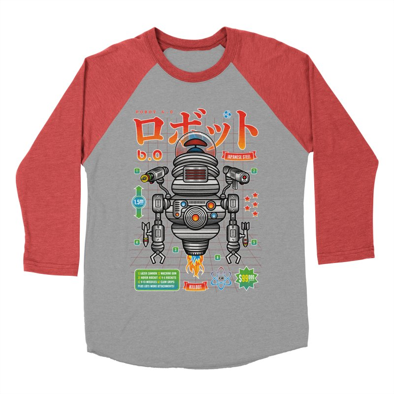 Robot 6.0 - Killbot Edition Men's Baseball Triblend Longsleeve T-Shirt by heavyhand's Artist Shop