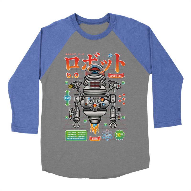 Robot 6.0 - Killbot Edition Men's Baseball Triblend Longsleeve T-Shirt by heavyhand's Artist Shop
