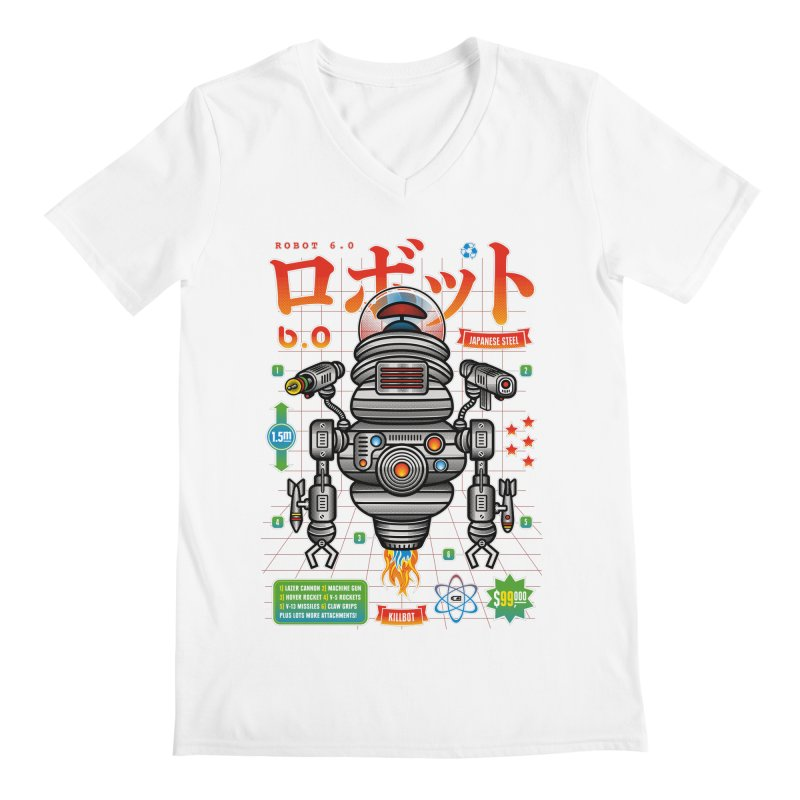 Robot 6.0 - Killbot Edition Men's V-Neck by heavyhand's Artist Shop