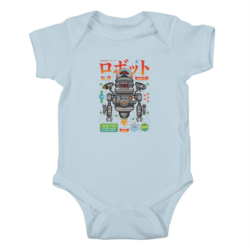 Robot 6.0 - Killbot Edition Kids Baby Bodysuit by heavyhand's Artist Shop