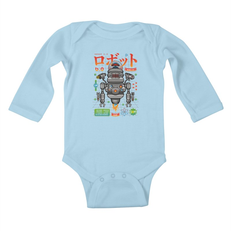 Robot 6.0 - Killbot Edition Kids Baby Longsleeve Bodysuit by heavyhand's Artist Shop