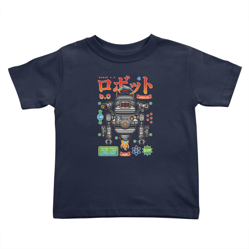 Robot 6.0 - Killbot Edition Kids Toddler T-Shirt by heavyhand's Artist Shop
