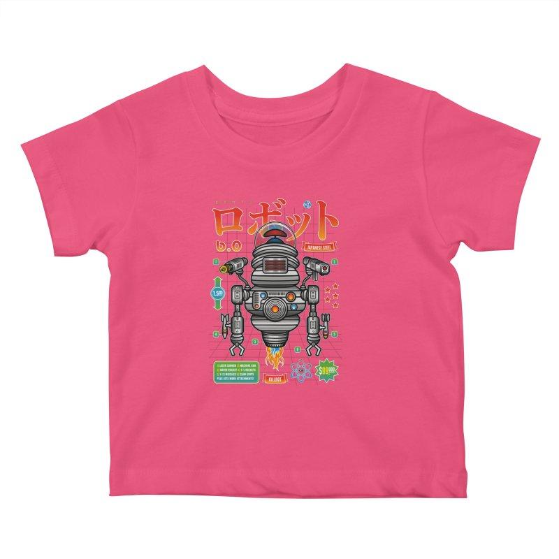 Robot 6.0 - Killbot Edition Kids Baby T-Shirt by heavyhand's Artist Shop