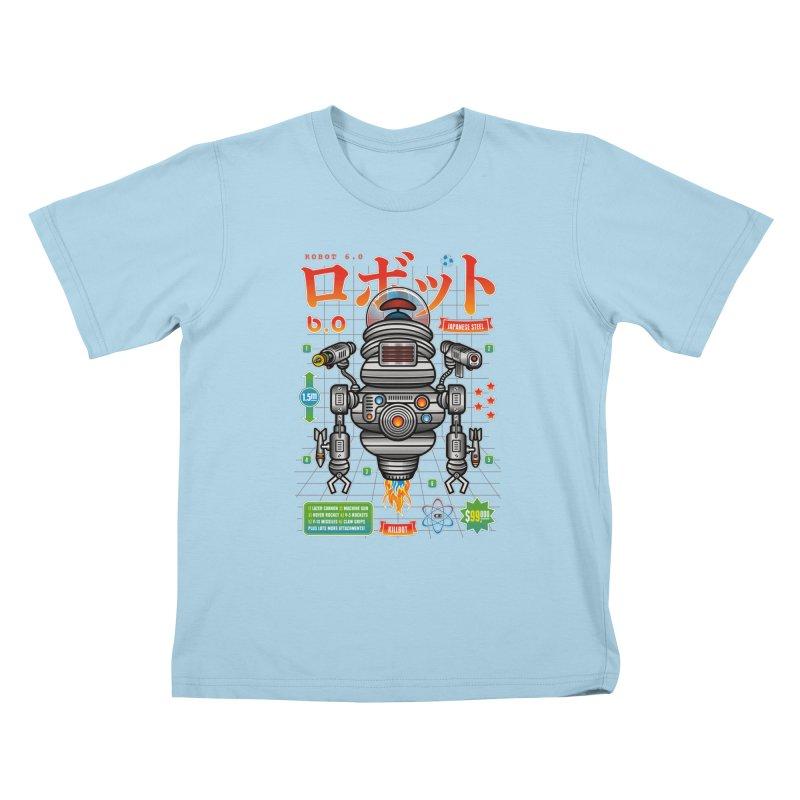 Robot 6.0 - Killbot Edition Kids T-Shirt by heavyhand's Artist Shop
