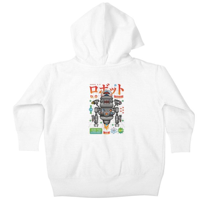 Robot 6.0 - Killbot Edition Kids Baby Zip-Up Hoody by heavyhand's Artist Shop