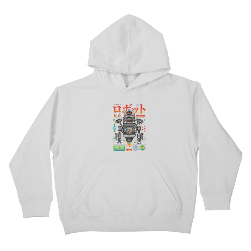 Robot 6.0 - Killbot Edition Kids Pullover Hoody by heavyhand's Artist Shop