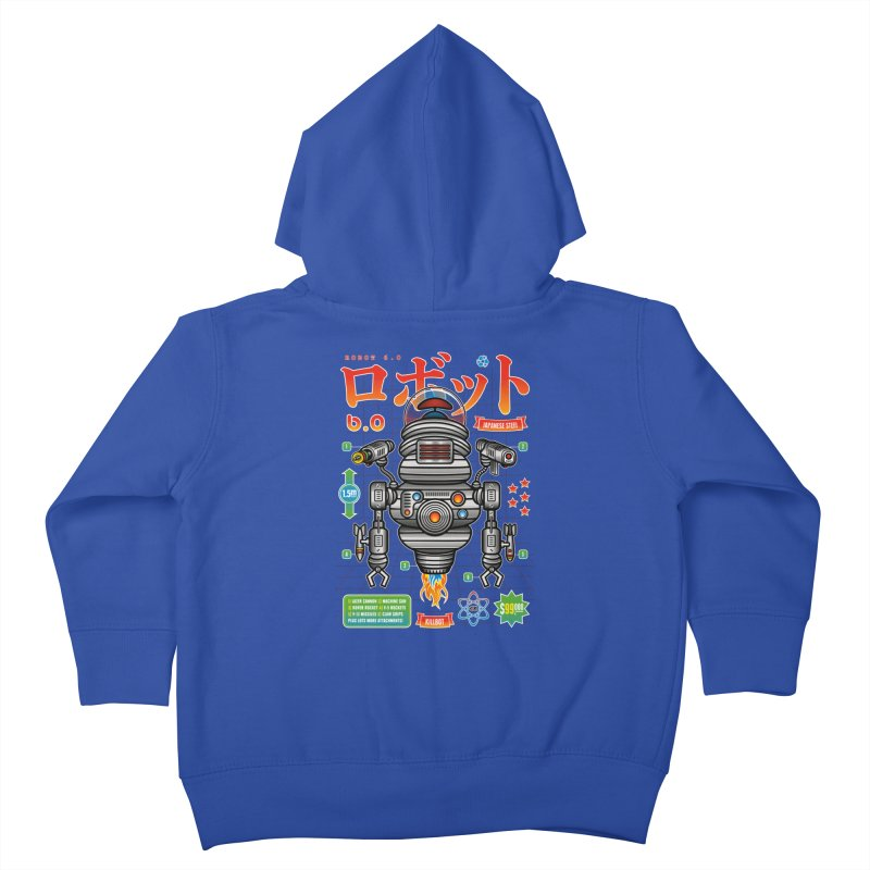 Robot 6.0 - Killbot Edition Kids Toddler Zip-Up Hoody by heavyhand's Artist Shop