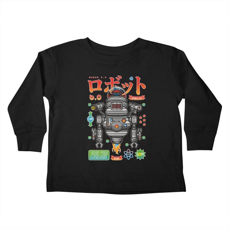 Robot 6.0 - Killbot Edition Kids Toddler Longsleeve T-Shirt by heavyhand's Artist Shop
