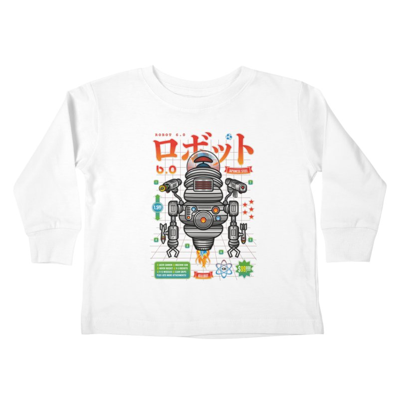 Robot 6.0 - Killbot Edition Kids Toddler Longsleeve T-Shirt by heavyhand's Artist Shop