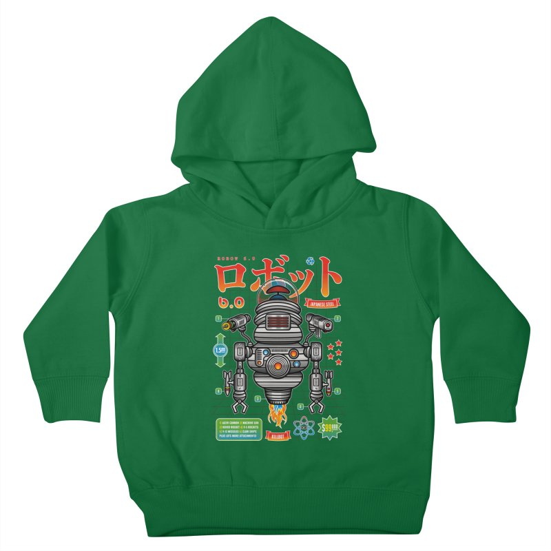 Robot 6.0 - Killbot Edition Kids Toddler Pullover Hoody by heavyhand's Artist Shop