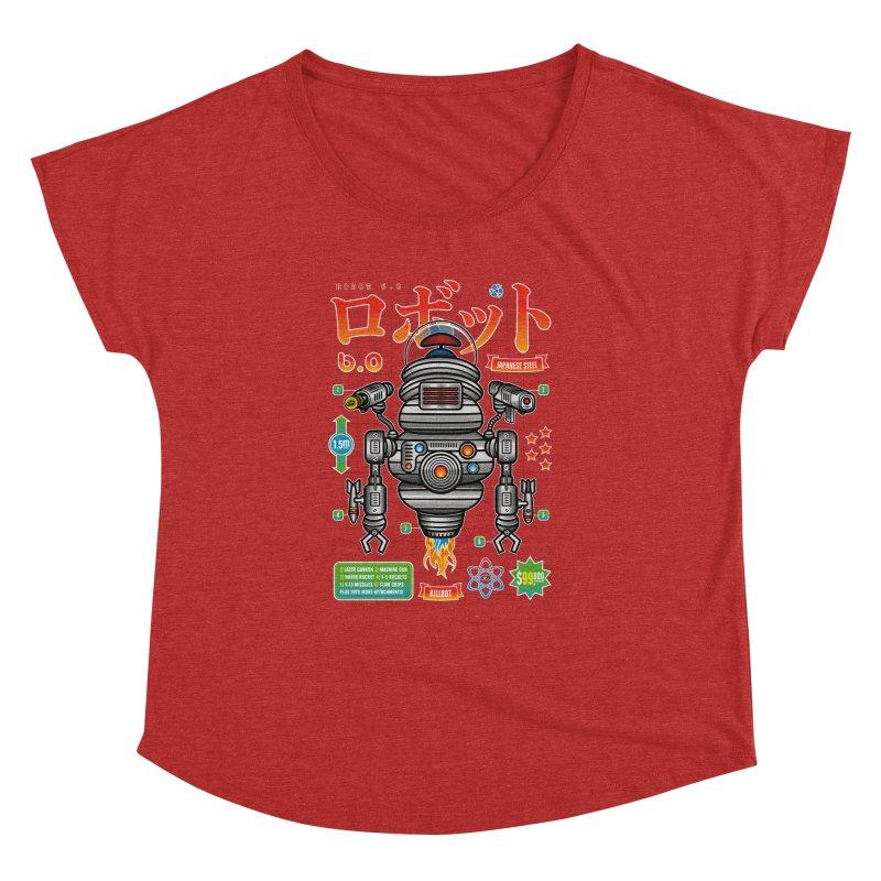 Robot 6.0 - Killbot Edition Women's Dolman Scoop Neck by heavyhand's Artist Shop