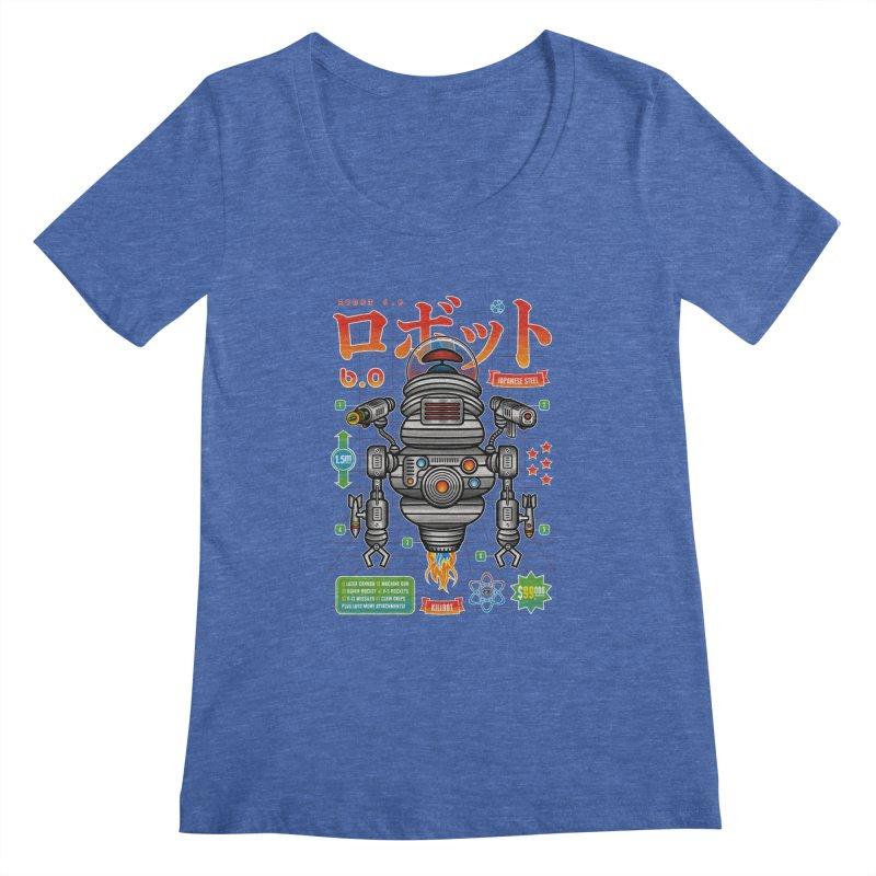 Robot 6.0 - Killbot Edition Women's Regular Scoop Neck by heavyhand's Artist Shop