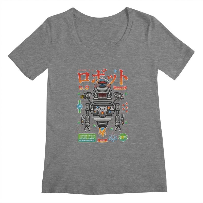Robot 6.0 - Killbot Edition Women's Scoopneck by heavyhand's Artist Shop