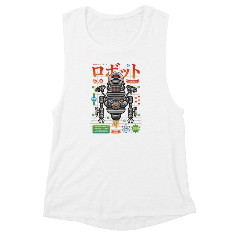 Robot 6.0 - Killbot Edition Women's Muscle Tank by heavyhand's Artist Shop