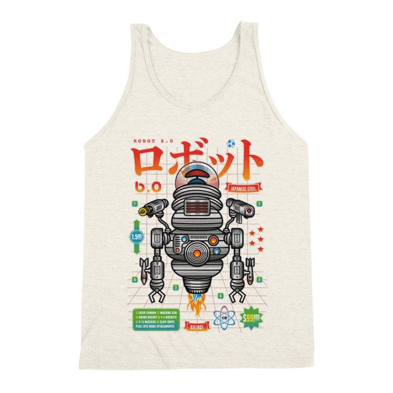 Robot 6.0 - Killbot Edition Men's Triblend Tank by heavyhand's Artist Shop