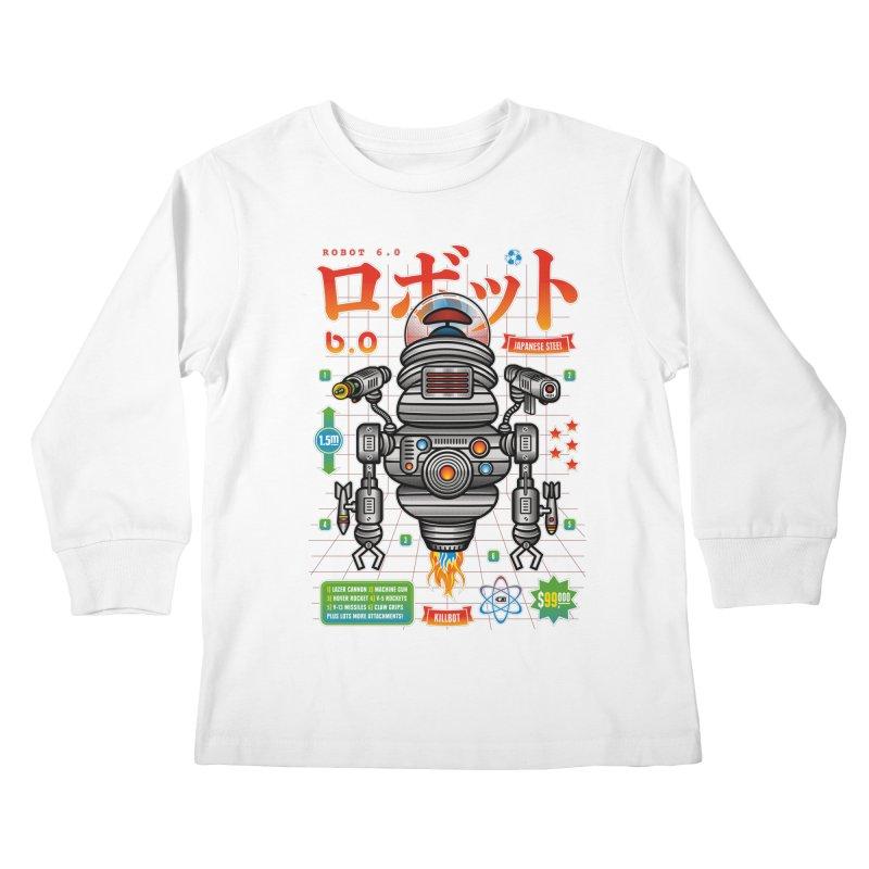 Robot 6.0 - Killbot Edition Kids Longsleeve T-Shirt by heavyhand's Artist Shop