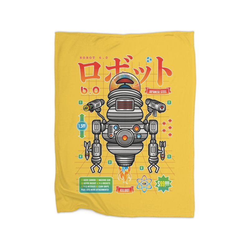 Robot 6.0 - Killbot Edition Home Blanket by heavyhand's Artist Shop