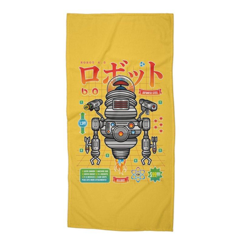 Robot 6.0 - Killbot Edition Accessories Beach Towel by heavyhand's Artist Shop