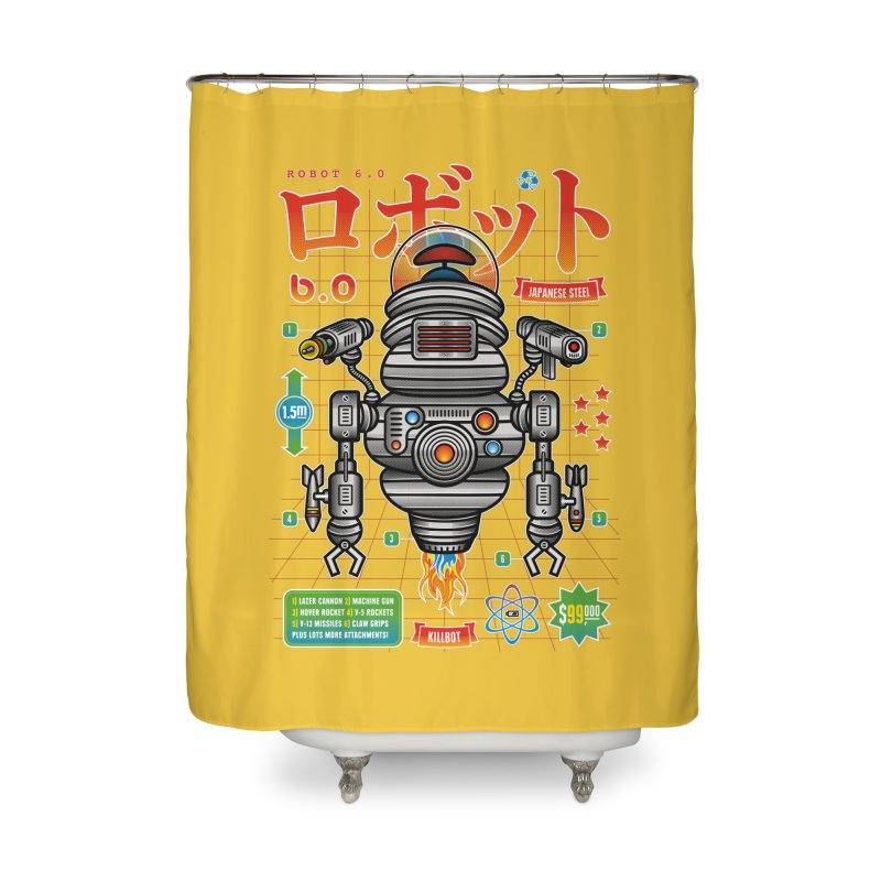 Robot 6.0 - Killbot Edition Home Shower Curtain by heavyhand's Artist Shop
