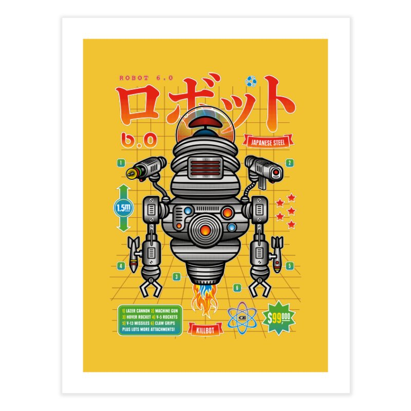 Robot 6.0 - Killbot Edition Home Fine Art Print by heavyhand's Artist Shop