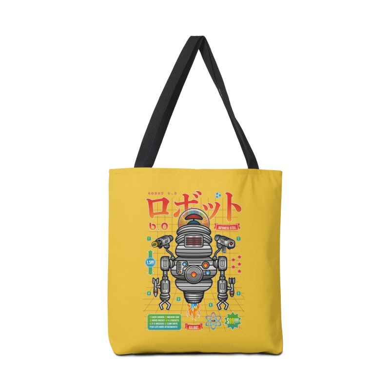 Robot 6.0 - Killbot Edition Accessories Tote Bag Bag by heavyhand's Artist Shop