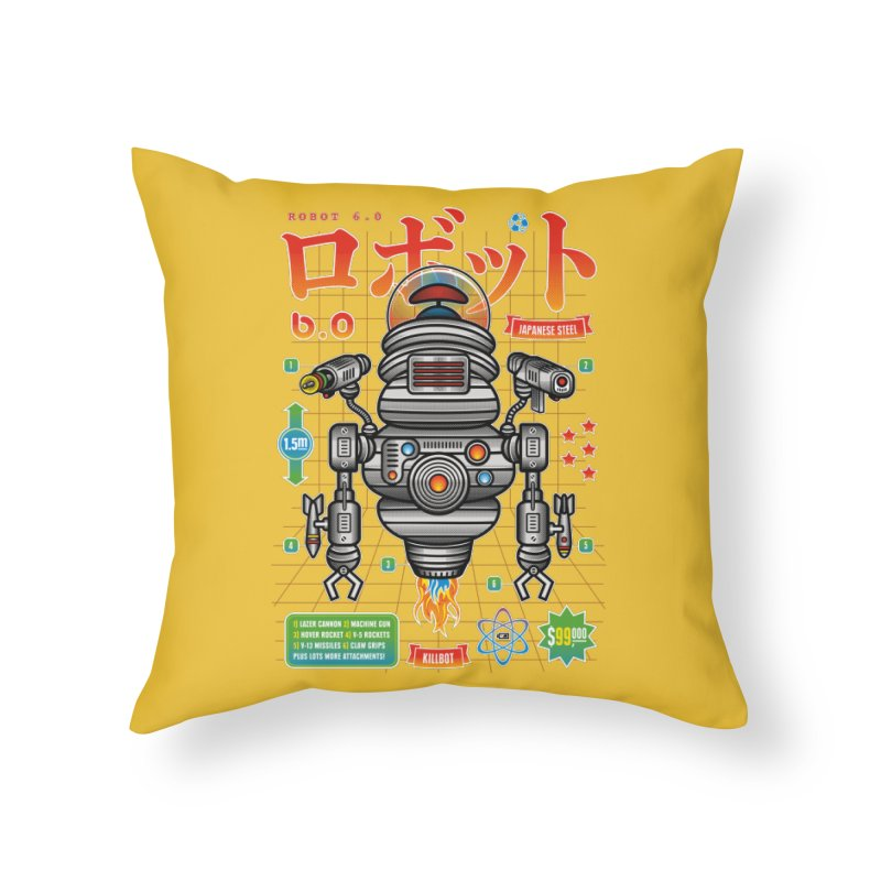 Robot 6.0 - Killbot Edition Home Throw Pillow by heavyhand's Artist Shop