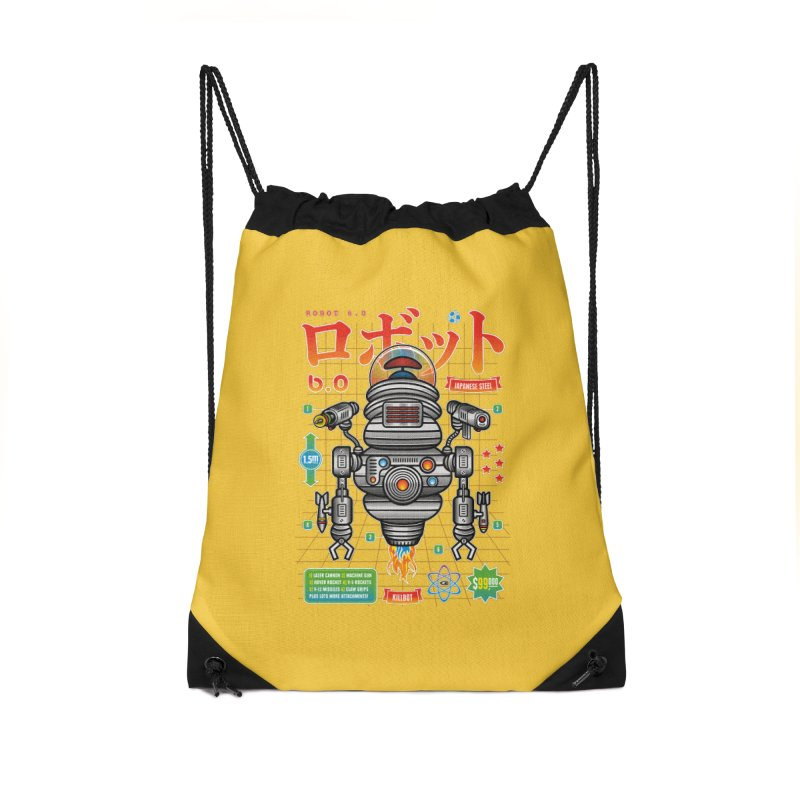 Robot 6.0 - Killbot Edition Accessories Drawstring Bag Bag by heavyhand's Artist Shop
