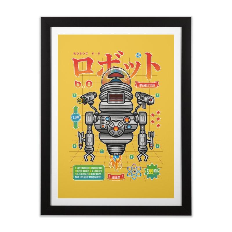 Robot 6.0 - Killbot Edition Home Framed Fine Art Print by heavyhand's Artist Shop