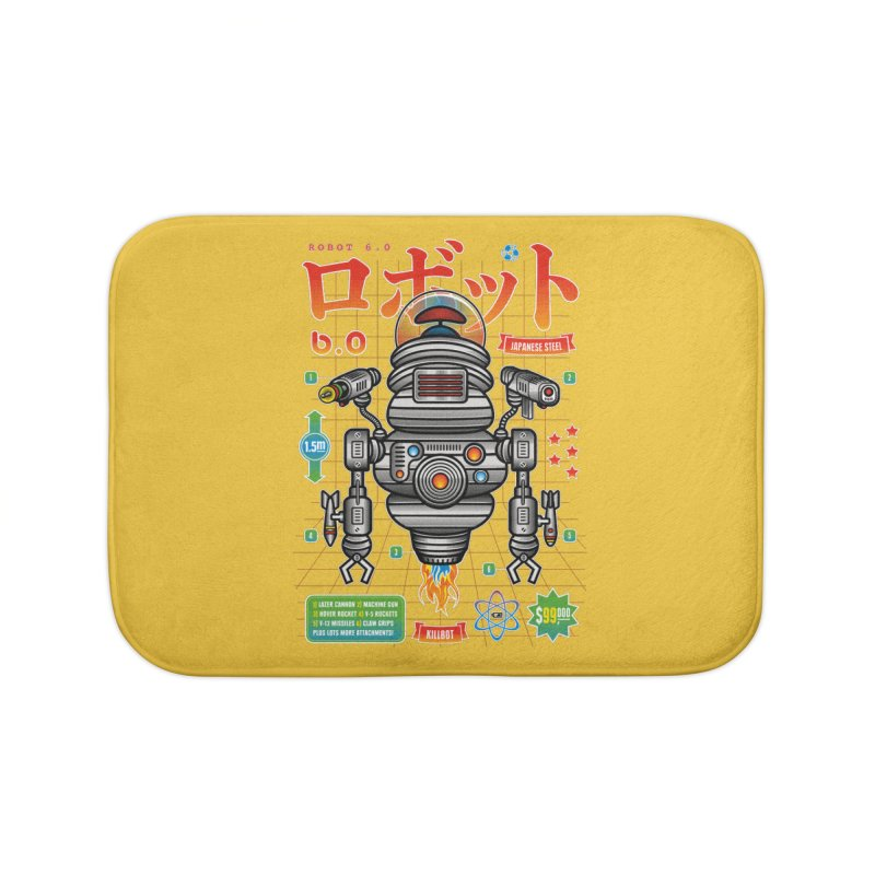 Robot 6.0 - Killbot Edition Home Bath Mat by heavyhand's Artist Shop