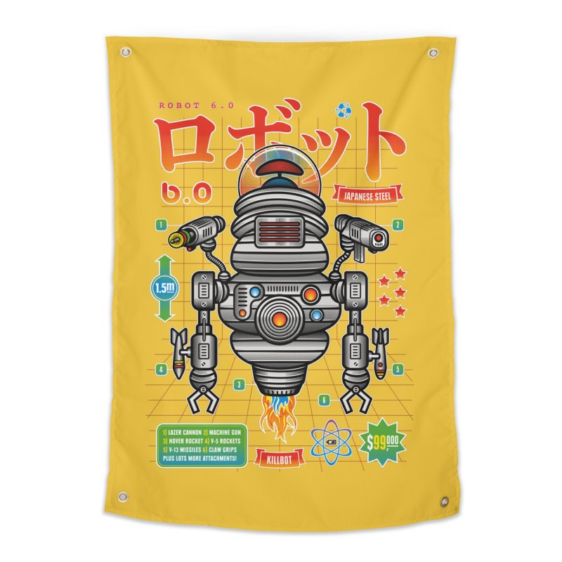 Robot 6.0 - Killbot Edition Home Tapestry by heavyhand's Artist Shop
