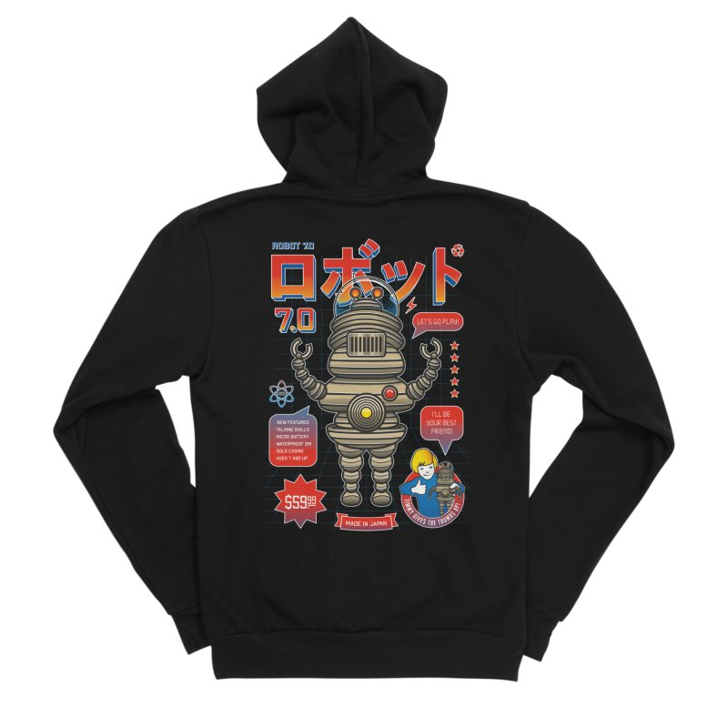 Robot 7.0 - Classic Edition Men's Sponge Fleece Zip-Up Hoody by heavyhand's Artist Shop