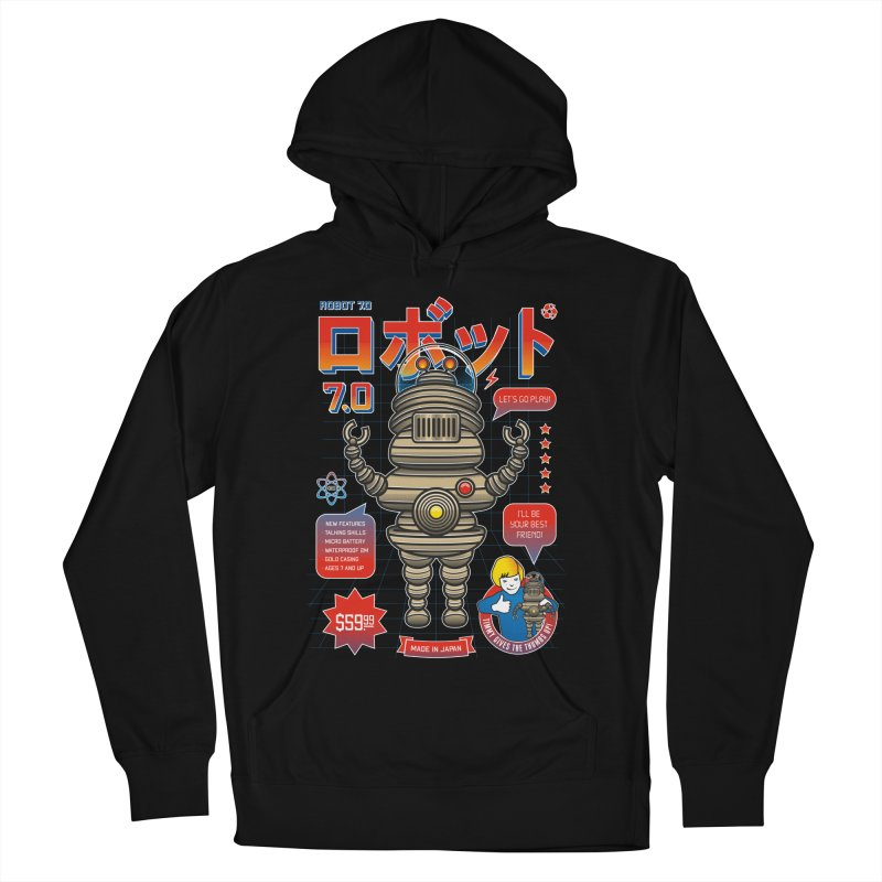 Robot 7.0 - Classic Edition Men's French Terry Pullover Hoody by heavyhand's Artist Shop