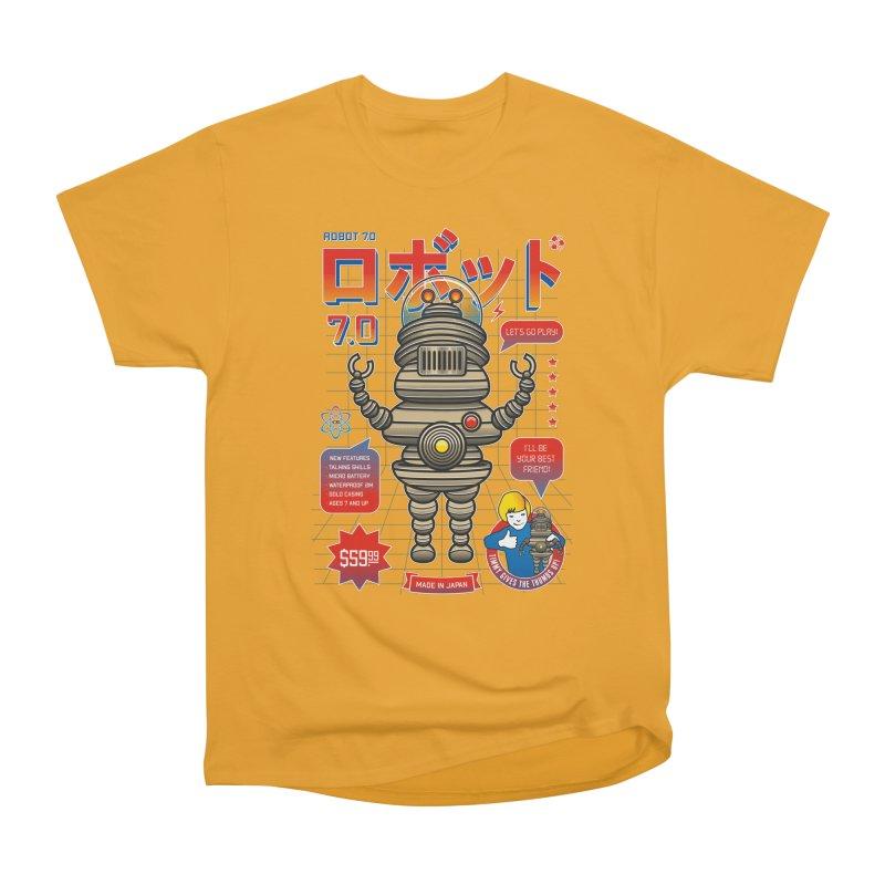 Robot 7.0 - Classic Edition Women's Heavyweight Unisex T-Shirt by heavyhand's Artist Shop