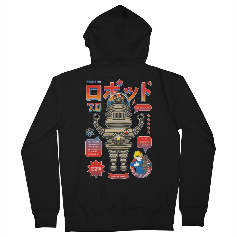 Robot 7.0 - Classic Edition Women's French Terry Zip-Up Hoody by heavyhand's Artist Shop