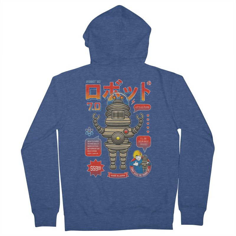 Robot 7.0 - Classic Edition Men's Zip-Up Hoody by heavyhand's Artist Shop