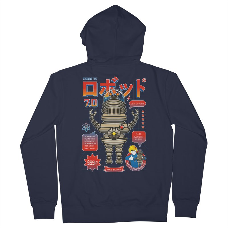Robot 7.0 - Classic Edition Men's French Terry Zip-Up Hoody by heavyhand's Artist Shop