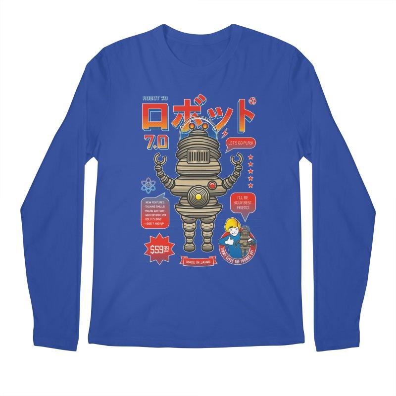 Robot 7.0 - Classic Edition Men's Longsleeve T-Shirt by heavyhand's Artist Shop