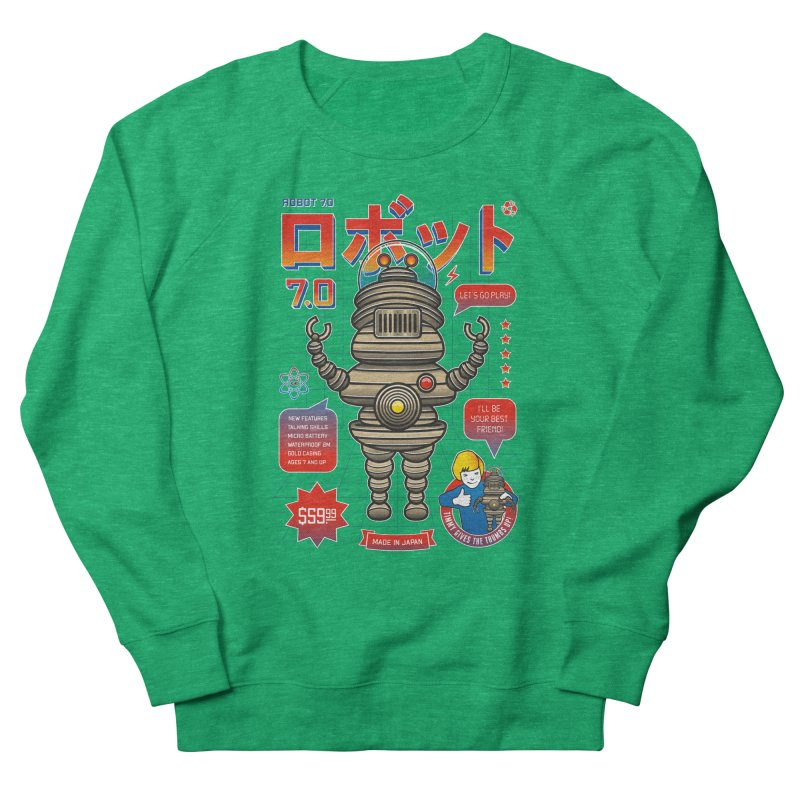 Robot 7.0 - Classic Edition Men's French Terry Sweatshirt by heavyhand's Artist Shop