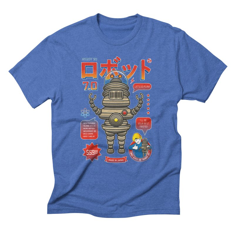 Robot 7.0 - Classic Edition Men's Triblend T-Shirt by heavyhand's Artist Shop