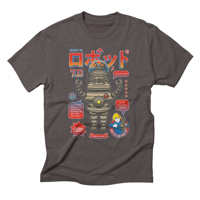 Robot 7.0 - Classic Edition Men's Triblend T-Shirt by heavyhand's Artist Shop