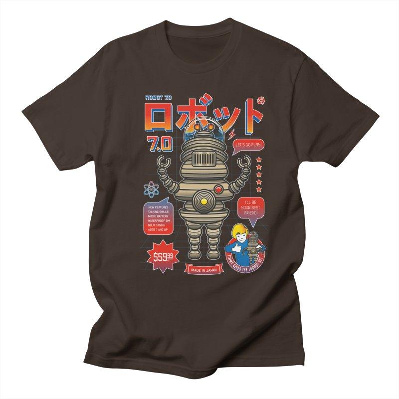 Robot 7.0 - Classic Edition Men's Regular T-Shirt by heavyhand's Artist Shop