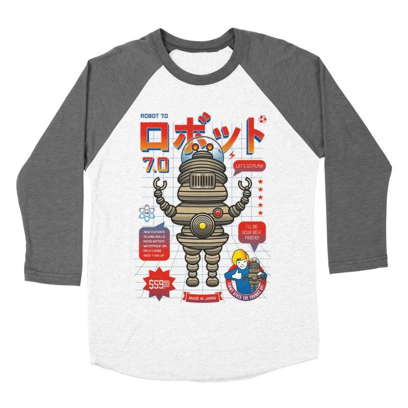 Robot 7.0 - Classic Edition Women's Baseball Triblend Longsleeve T-Shirt by heavyhand's Artist Shop