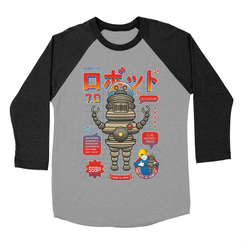 Robot 7.0 - Classic Edition Women's Baseball Triblend Longsleeve T-Shirt by heavyhand's Artist Shop