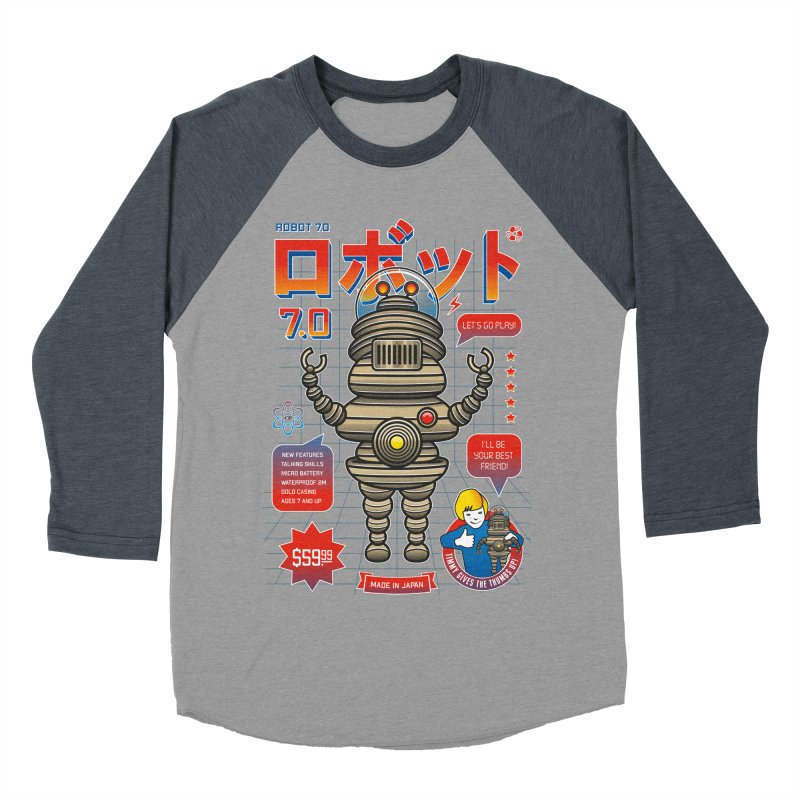 Robot 7.0 - Classic Edition Men's Baseball Triblend Longsleeve T-Shirt by heavyhand's Artist Shop