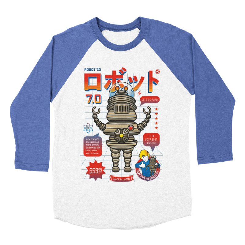 Robot 7.0 - Classic Edition Men's Baseball Triblend Longsleeve T-Shirt by heavyhand's Artist Shop