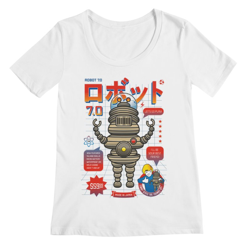 Robot 7.0 - Classic Edition Women's Regular Scoop Neck by heavyhand's Artist Shop