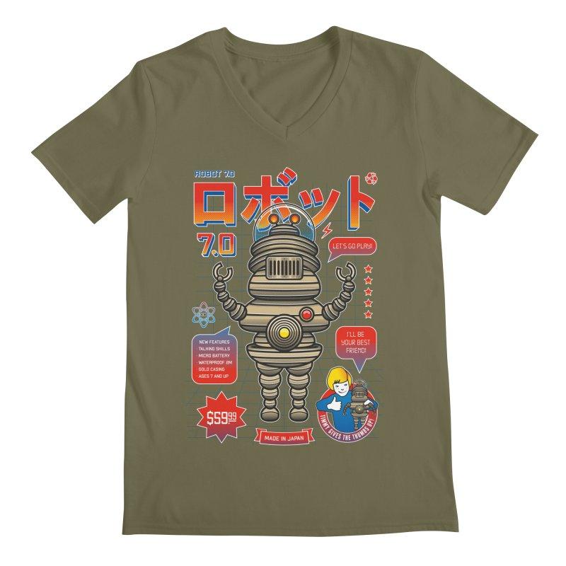 Robot 7.0 - Classic Edition Men's Regular V-Neck by heavyhand's Artist Shop