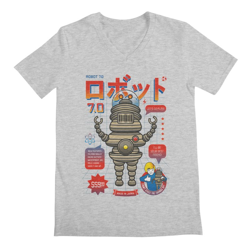 Robot 7.0 - Classic Edition Men's V-Neck by heavyhand's Artist Shop