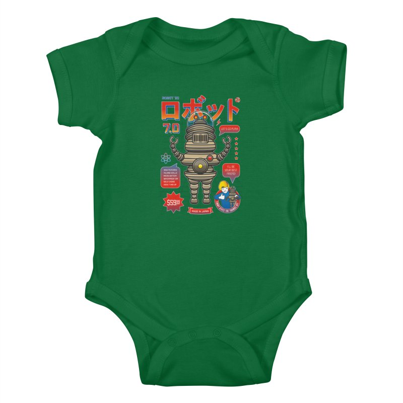 Robot 7.0 - Classic Edition Kids Baby Bodysuit by heavyhand's Artist Shop