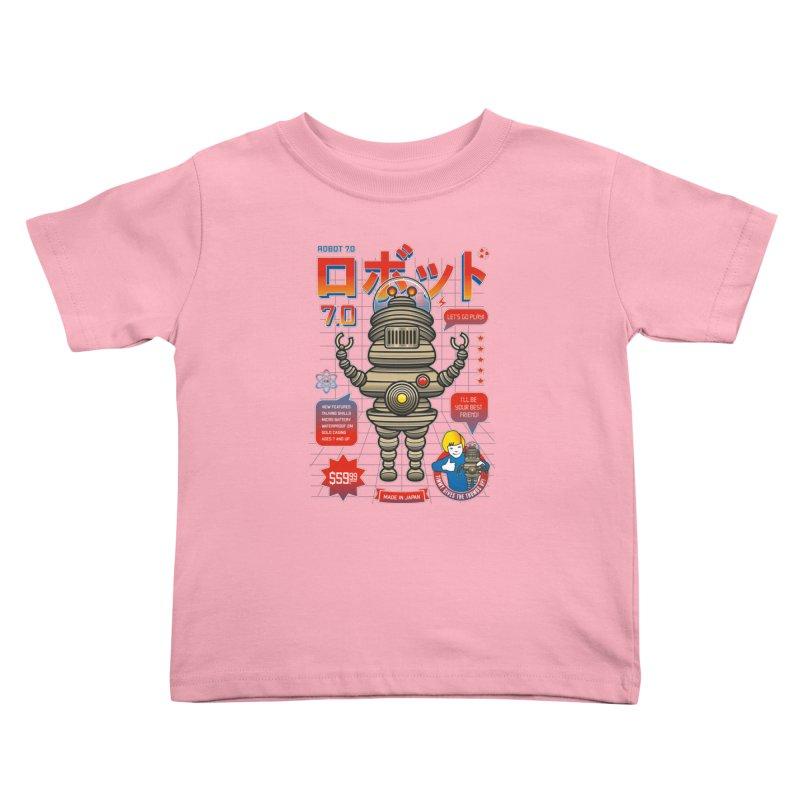 Robot 7.0 - Classic Edition Kids Toddler T-Shirt by heavyhand's Artist Shop